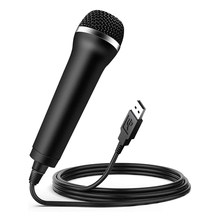 Microfone com fio usb karaoke mic para interruptor wii ps4 xbox computador computador condensador gravação microfone ultra-largo