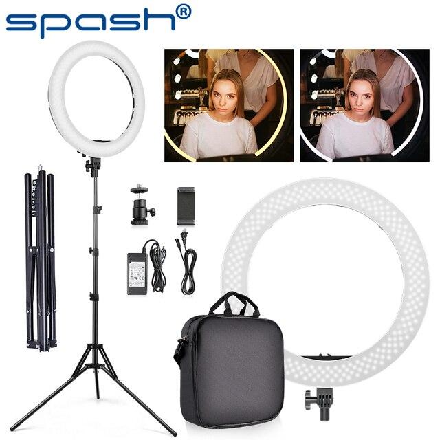 Spash Ring Licht 18Inch Met Statief Ring Lamp Dimbaar Licht Ring 3200K 5500K Bi Kleur Voor Youtube studio Fotografie Verlichting