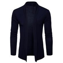 NEGIZBER 2019 Autumn Mens Cardigan Solid Slim Fit Long Sweater Men Fashion 100 Cotton Streetwear US Size