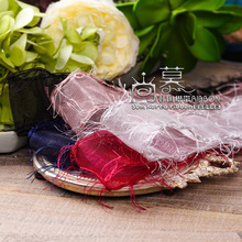 100yards 25mm 38mm fringe edge organza sheer ribbon for garment apparel hat underwear fashion accessories bouquet packing