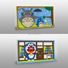 hot LegoINGlys creators Japan Creator Cartoon Image Fresco Bricks Doraemon Totoro Micro Diamond Building Blocks bricks toys gift
