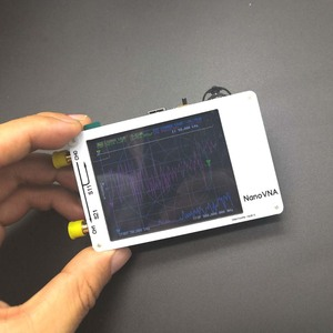 Image 3 - NanoVNA analizador de red vectorial, blanco, 2,8 pulgadas, LCD táctil, HF, VHF, UHF, UV, 50KHz 300MHz, Analizador de antena + batería
