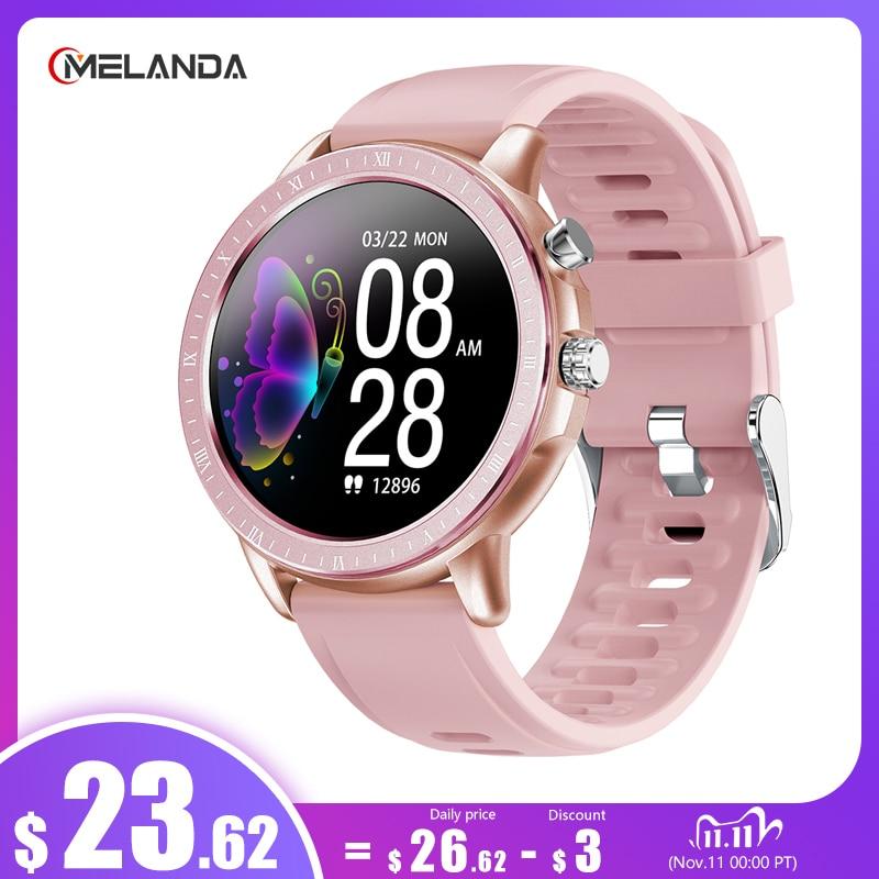 "MELANDA 2020 New Smart Watch Women Men 1.3"" Full Touch Round Screen Heart Rate Monitor Fitness Tracker Smartwatch For Ladies 1"