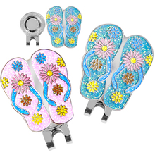 Golf Hat Clip with Detachable Magnetic Golf Ball Marker Slipper Style