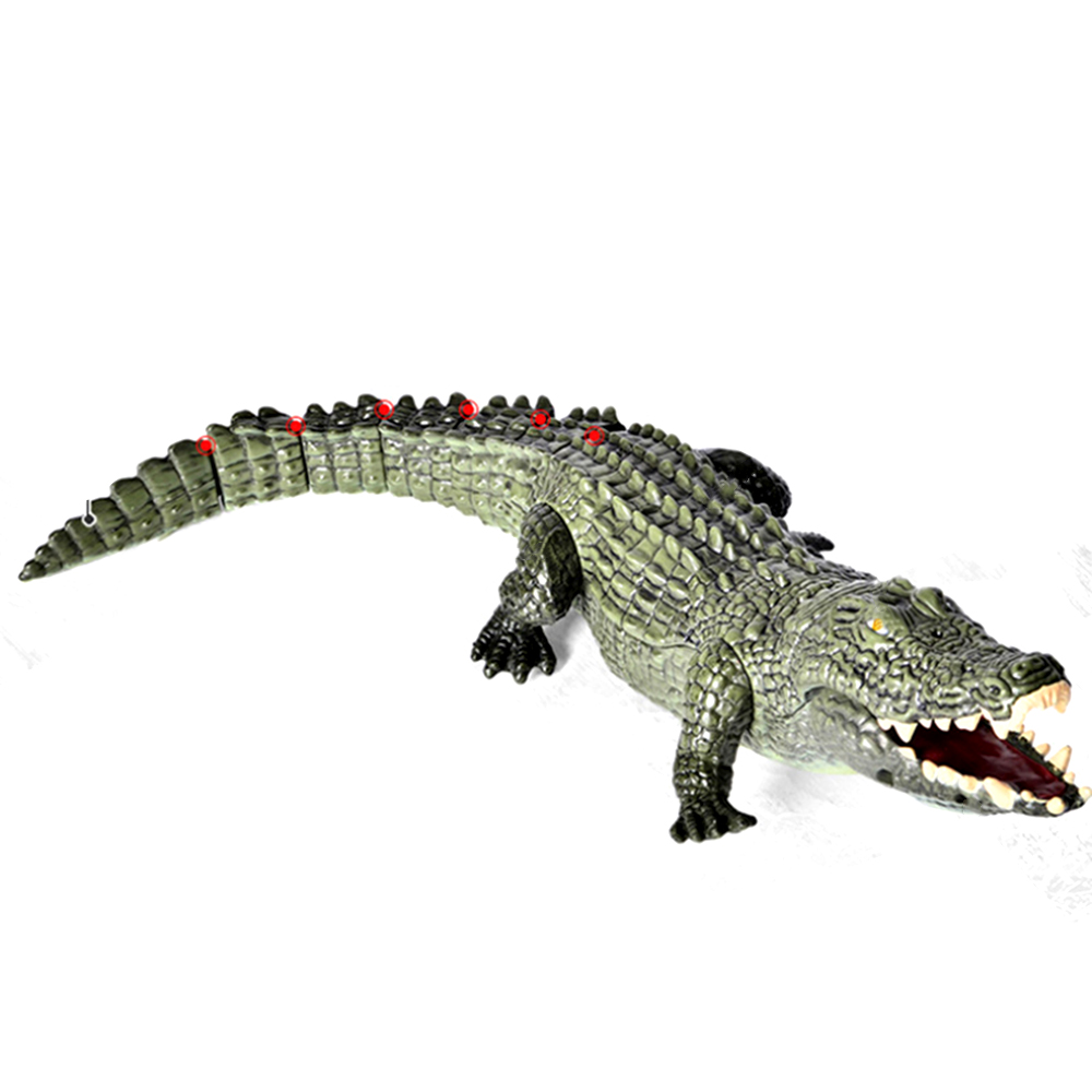Electric Crocodile Toys Wireless Remote Control Crocodile Toy Cartoon Animal Shape Model Crawling Crocodile Rc Toy For Children