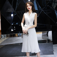 White Satin Solid Oriental Style Banquet Dresses Chinese Vintage Traditional Wedding Cheongsam Elegant Evening Party Gowns