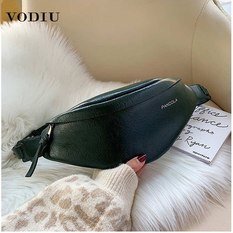 Women Fashion Waist Bag Fanny Pack PU Leather Phone Pouch Pillow Design High Quality Ladies Shoulder Crossbody Waist Bags Packs