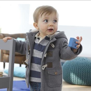 Kurtka zimowa dla chłopców bawełna dla niemowląt chłopcy płaszcze utrzymuj ciepłą kurtkę z kapturem dla chłopców piękny maluch dla dzieci odzież dla dzieci odzież dla dzieci tanie i dobre opinie Na co dzień COTTON Poliester Pasuje prawda na wymiar weź swój normalny rozmiar Pełna Stałe Denim REGULAR
