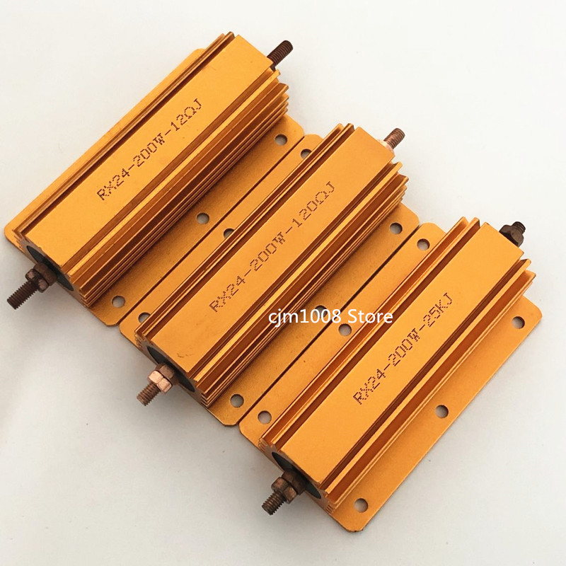 1 шт. Алюминий Мощность металлический корпус чехол с проволочной обмоткой резистор RX24 200W 1K, 2K труба из углеродистого волокна 3K 4K 5K 8K 10K 20K 25K 30K ...