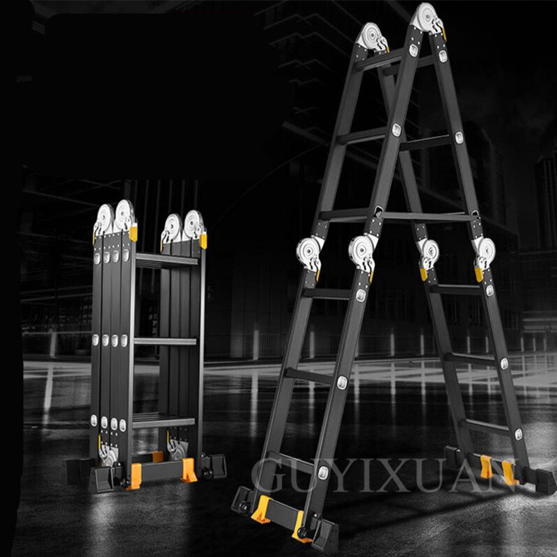 1.2m Multi-function Ladder Folding Ladder Herringbone Ladder Household Ladder Telescopic Ladder Lifting Engineering Ladder
