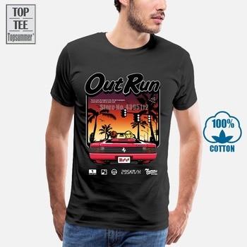 Men Short Sleeve Tshirt Out Run Retro Vintage Arcade Gaming T Shirt Women T-Shirt
