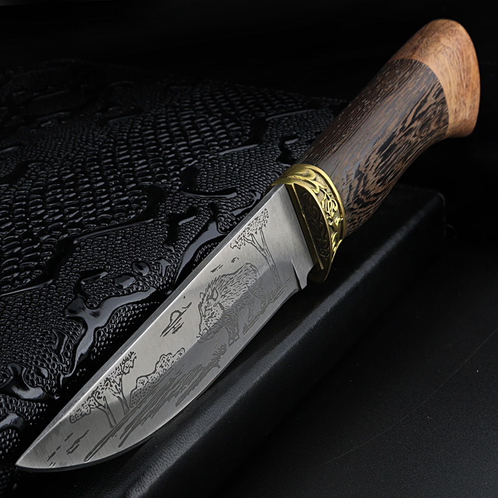 MiXUAN FENG Litary Tactical Fixed Blade Knife 8CR18MOV 60HRC Wild Hunting Survival Camping Knife