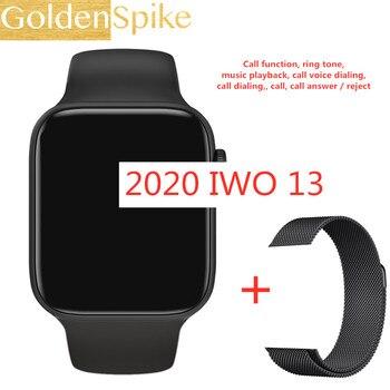 2020 IWO 13 Series 5 IWO13 Smart Watch IP67 waterproof 1.54 inch 44MM Heart Rate Bluetooth Call Music Player PK W34 F10 IWO 12 8