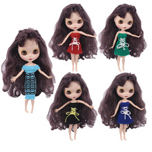 Blyth Doll Strapless Skirt Sweater Dress For Blyth BJD 30 Cm 1/6 Doll Barbiees Doll Our Generation Birthday Girl's Toy Gifts lovely dress for blyth doll clothes christmas gift toy dress for blyth doll 1 6 30cm doll