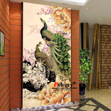 цены 5d diy diamond mosaic crystal peacocks pictures painting needlework diamond embroidery animals patterns Full Square Rhinestone