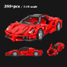 Şehir yarışı geri çekin oyuncaklar yapı taşları Ferraried spor araba tuğla seti yaratıcı çocuklar uzman modelleri çocuk hediyeler
