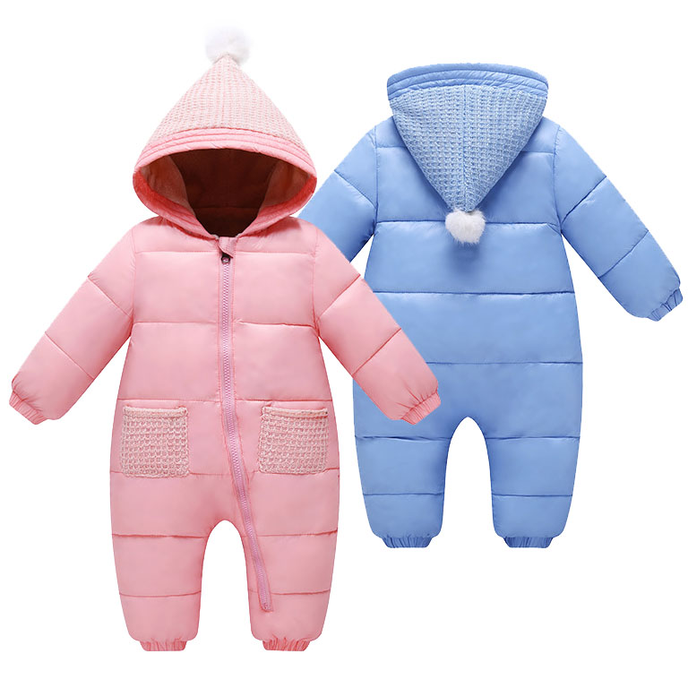 Winter Baby Clothes Hooded Rompers For Baby Boys Girls 3 6 12 18 24 Month Toddler Warm Thick Romper NewBorn Wear Infant Jumpsuit