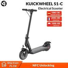 (€200-€18 code : FRMAY018 ) D'origine KUICKWHEEL S1-C Smart Scooter Électrique Scooter Adulte Pliable E-scooter 50KM D'autonomie 25 km/h 500W NFC Déverrouiller IPX5