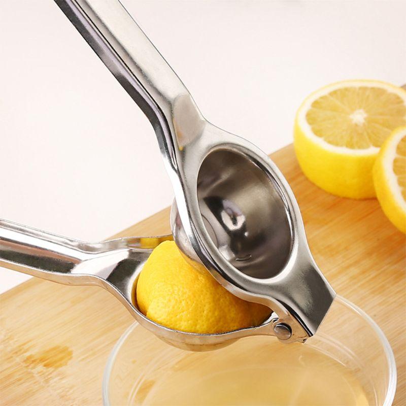 Лимона пресс для выжимки лимона Нержавеющаясталь, ручное Лайм соковыжималка для цитрусовых Пресс соковыжималка, высокомощный металличес...