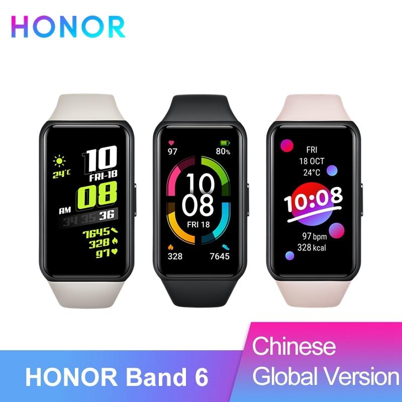 HONOR Band 6 китайский & глобальная версия 1,47 активно-матричные осид, Экран интеллигентая (ый) браслет SpO2 монитор сердечного ритма Водонепроницае...
