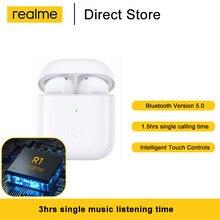 Realme Buds Air Neo Tws Bluetooth 5,0 Ture Беспроводные наушники с сенсорным управлением спортивные наушники с басовым драйвером R1 чип-гарнитура