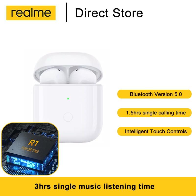 Realme bourgeons Air Neo Tws Bluetooth 5.0 Ture sans fil écouteurs contrôle tactile Sport écouteurs basse Boost pilote R1 puce casque