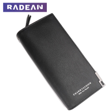 Radean Wallet Women Leather Purse Wristlet Clutch For Phones Long Big PU Leather Wallet Zip Money Bag Women Coin Purse Card women genuine leather simple zip wallet men cellphone mobile bag fashion casual purse checkbook coin change bill money clutch