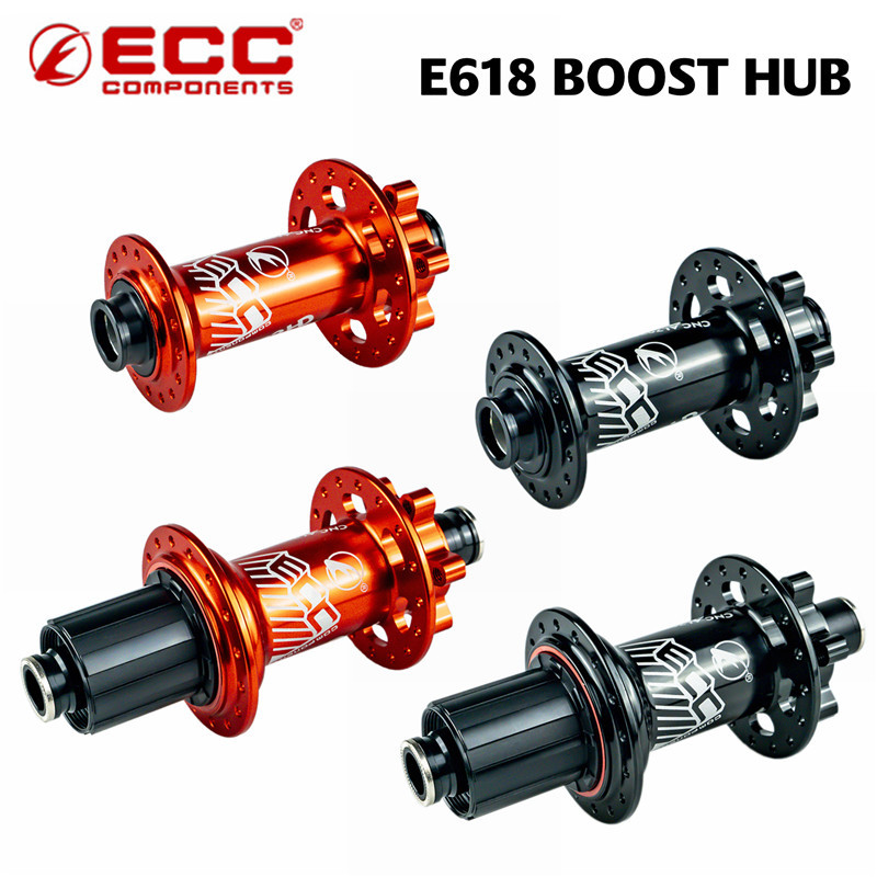 ZRACE E618 Boost Bike Hub Thru Axle Bicycle Sealed Bearing Hubs for MTB 32 Holes Disc Brakes , Front 110x15 Rear 148x12 Hubs image