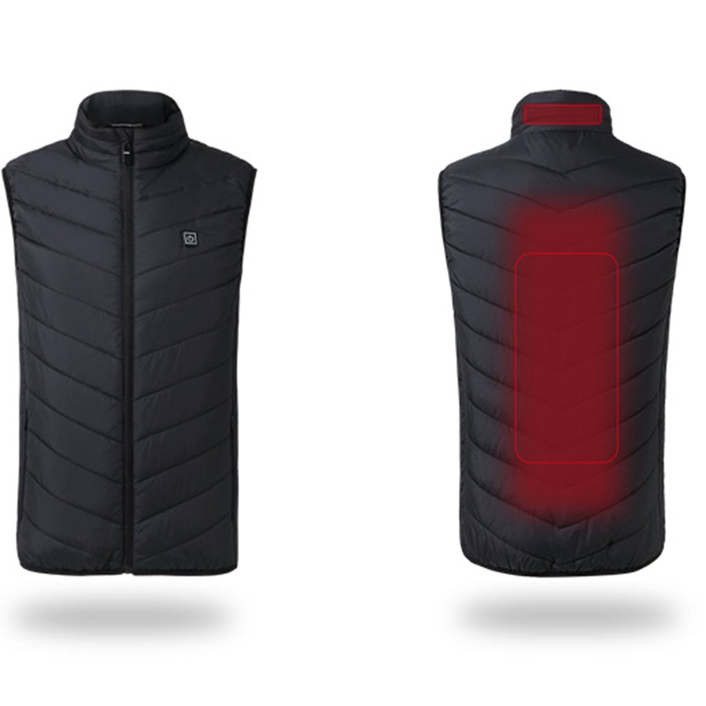 Heated jacket Heating Warm Vest Men Women Usb Smart Washable Adjustable USB Charging Heated Clothing Warmer Clothes SizeS-4XL