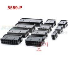 10 шт./лот черный 5559-P 5559 4,2 мм Автомобильный жгут проводов соединитель мама 2 - 12 контактов для ПК/компьютера ATX видеокарты