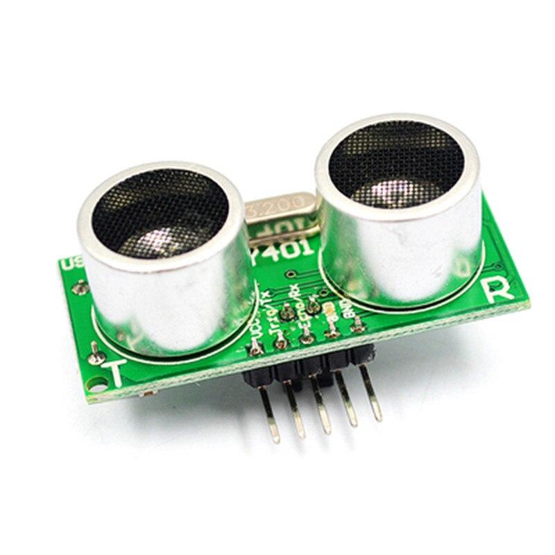Модуль ультразвукового датчика US-100, модуль измерения расстояния с температурной компенсацией US100, постоянный ток 2,4-5 в для Arduino
