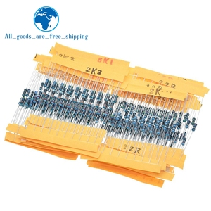 TZT 1 Pack 300Pcs 10 -1M Ohm 1/4w Resistance 1% Metal Film Resistor Resistance Assortment Kit Set 30 Kinds Each 10pcs