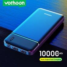 VOTHOON-Banco de energía de 10000mAh, 2 USB, portátil, batería externa, para iPhone 12, Samsung, Xiaomi