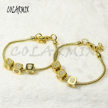 5 pcs Chain bracelets  cubic beads bangles Boys and girls charm accessories bangles bracelets jewel for women 50279