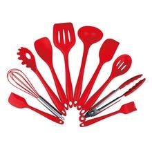Food Grade Silicone Kitchenware Multiple Sets Kitchen Tools Scraper Set Accessories 10Pcs/Set