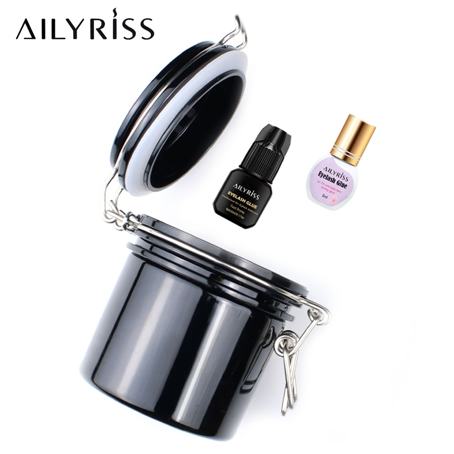 Eyelash Extension Glue Storage Tank Individual Eye Lash Adhesive Stand Activated Carbon Glue Storage Tank Cylinder Container