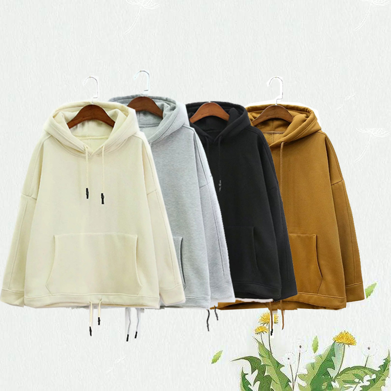 Hooded tracksuit women are loose and fashionable for autumn/winter wear plus-size hoodies 2019