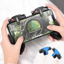 PUBG 모바일 컨트롤러 게임 패드 조이스틱 초당 30 샷 게임 트리거 L1R1 PUBG 전화 게임 패드 용 화재 버튼 조준