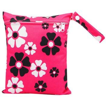 20*25cm Mini Diaper Wet Bag Single Pocket Zipper Baby Bags For Mom Maternity Travel Stroller Bag PUL Nappy Diaper Bag Wetbag - AS-MB-01