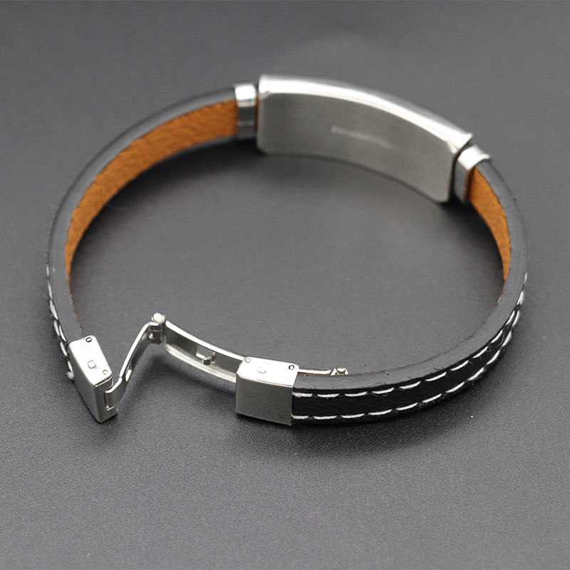 Mibrow 2020 New Stainless Steel Clasps 12 Zodiac Sign Charm Bracelet Men Scorpio Zodiac Leather Bracelets for Men Jewelry