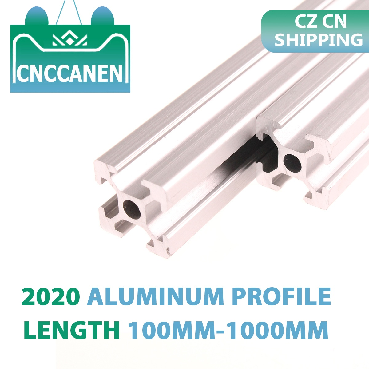 CZ CN Shipping 2PCS 2020 Aluminum Profile Extrusion 100mm-1000mm Length European Standard Anodized For CNC 3D Printer Parts DIY