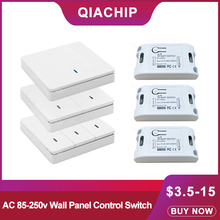 QIACHIP 433Mhz Universal Wireless Remote Control AC 110V 220V 1CH RF Relay Receiver Module & 433 Mhz Relay Receiver Switch Light