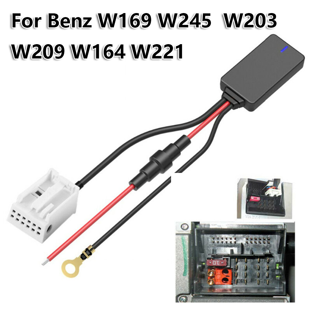 For <font><b>Mercedes</b></font> <font><b>W169</b></font> W245 W203 W209 W164 Bluetooth Adapter <font><b>Parts</b></font> Auto Radio Cable image
