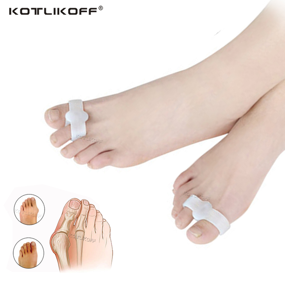 Silicone Toe Corrector Gel Protector Toe Separator Hallux Valgus Pedicure Tools Foot Care Corrector For Toes Inserts Pad