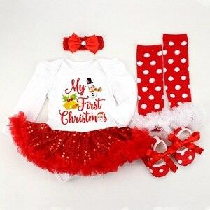 Image 5 - תינוקת Romper 0 2Y סתיו חורף יילוד תינוק בגדי בנות חג המולד מתנת ילדי Bebe סרבל תינוקת תלבושות בגדים