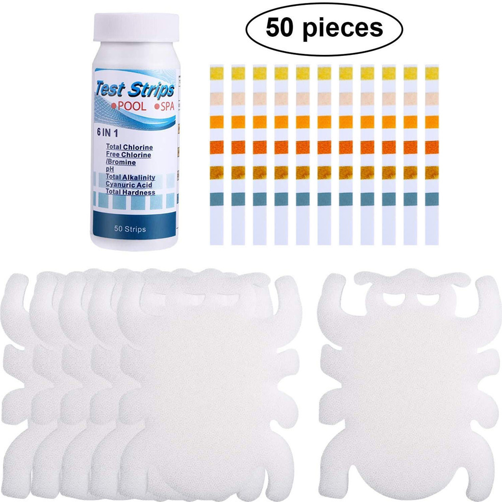50 Pcs Swimming Pool Ph Test Paper Residual Chlorine Value Alkalinity Hardness Test Strip Ph Tester Pool Cleaner Accessories D3 To Adopt Advanced Technology