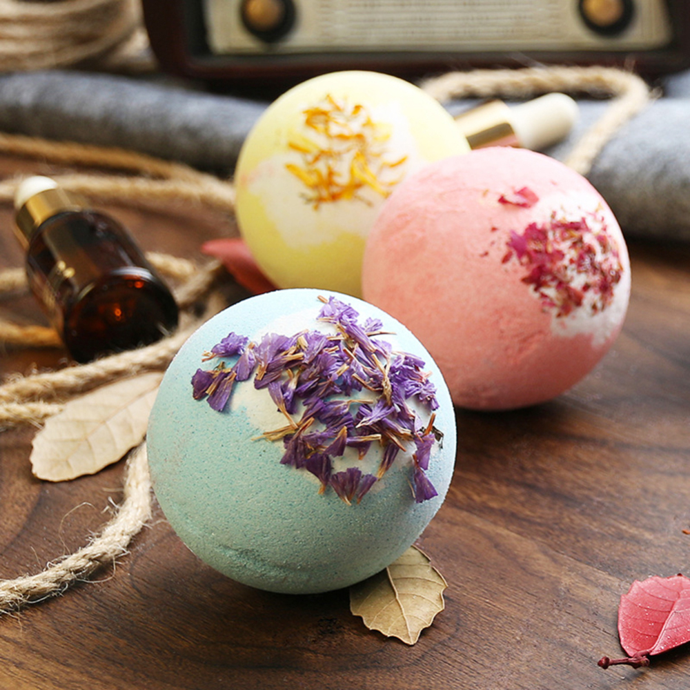 Soap Handmade Essential Oil Soap Moisturizing Bath Salt Soap Bubble Shower Bombs Ball Body Cleaner Spa