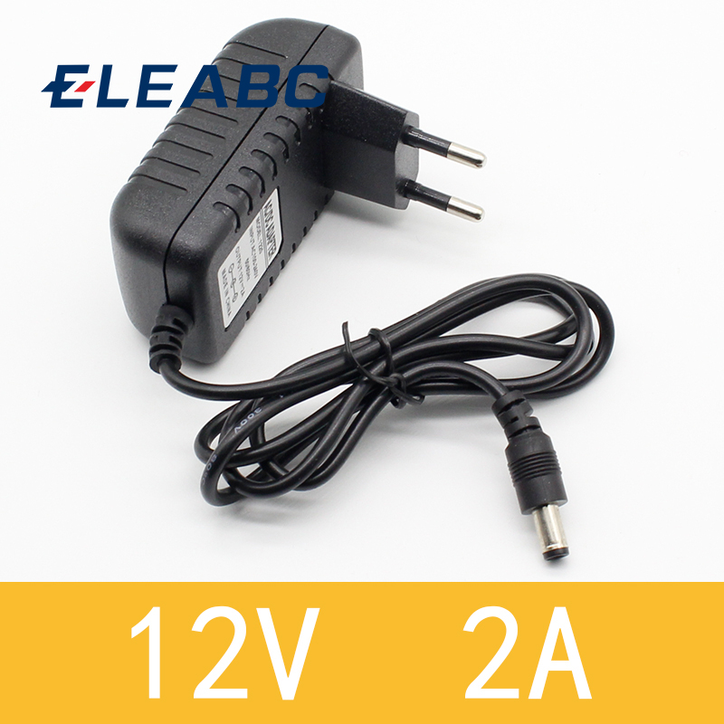 1PCS 12V2A AC 100V-240V Converter <font><b>Adapter</b></font> DC <font><b>12V</b></font> 2A <font><b>2000mA</b></font> <font><b>Power</b></font> Supply EU Plug 5.5mm x 2.1-2.5mm for LED CCTV image