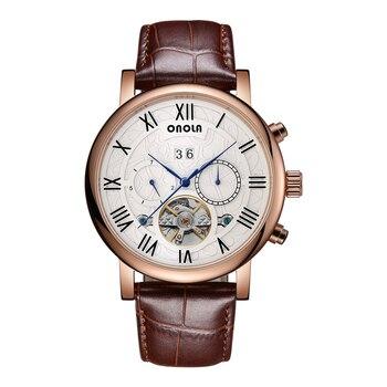 Skeleton Watches Mechanical Automatic Watch Men Tourbillon Sport Clock Casual Business Moon Wrist Watch Relojes Hombre