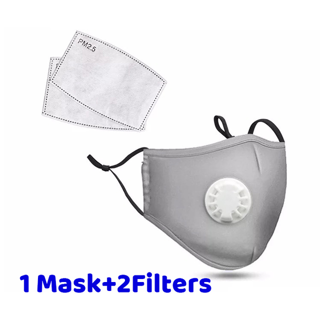 Dustproof Face Mask PM2.5 Anti Pollution Half Face Mouth Mask With Breathing Valve Washable Reusable Sponge Maks Respirator 3